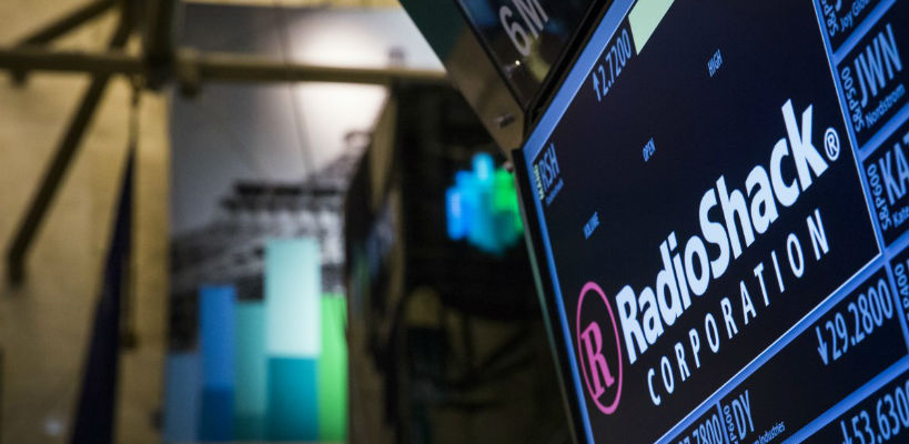 REUTERS/Brendan McDermidThe ticker for RadioShack Corp. is seen at the post where it's traded just after the opening bell on the floor of the New York Stock Exchange.